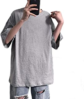 Doufine Mens Casual T Shirts Half Sleeve Loose Solid Blouse Top