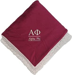 Sorority Letters Shop Alpha Phi Sherpa Throw Blanket