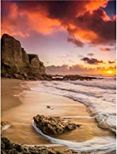 DIY 5D Diamond Painting Kits for Adults Full Drill Embroidery Paintings Rhinestone Pasted DIY Painting Cross Stitch Arts Crafts for Home Wall Decor 30x40cm/11.8×15.71Inches(Sunset and Beach)
