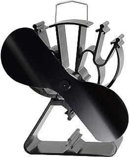 VODA Heat Powered Stove Fan for Wood/Log Burner/Fireplace - Eco Friendly(Black)
