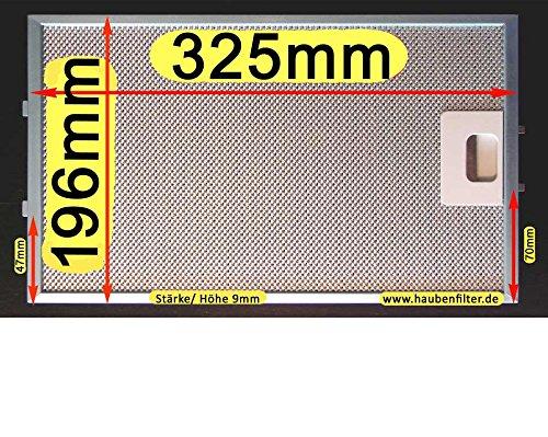 Metall-Fettfilter 325 x 196 für Dunstabzugshaube, Bessere Qualität, 10-lg.