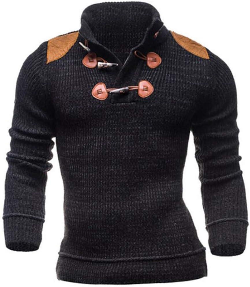 Hzikk Autumn/Winter Man Fashion Sweater Jersey Clothing Pullover Jumper,Black,XL