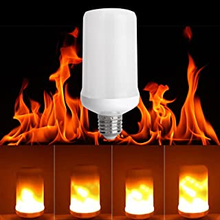 LED Flickering Flame Light Bulb, E26 Base, 3 Lighting Modes, True Fire Color, Waynewon Vivid Flame Effect Light Bulbs for Home, Bars and Christmas Decorations