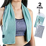 Best Cooling Neck Wraps - Sarissa Cooling Towel 2 Packs for Instant Relief Review