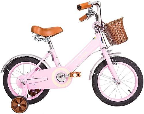 Fenfen Kinder fürrad 12 14 16 18 Zoll mädchen fürrad 2-5 3-6 5-9 8-13 Jahre alten Kinderwagen High Carbon Steel, WeißRosa (Farbe   14 inch Rosa)