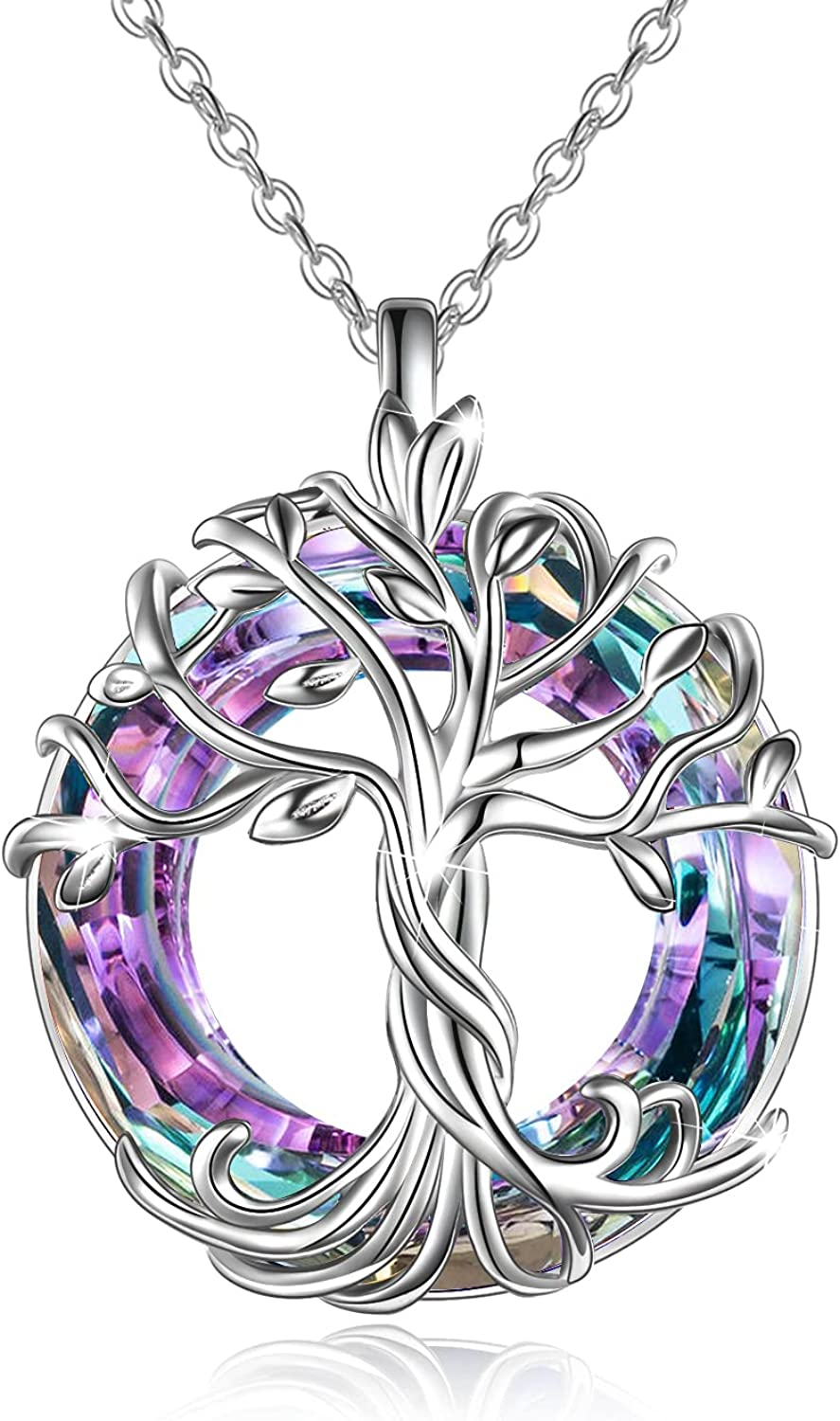 TOUPOP Tree Max 44% OFF of 2021 new Life Necklaces Family Sterling Silver Celtic 925