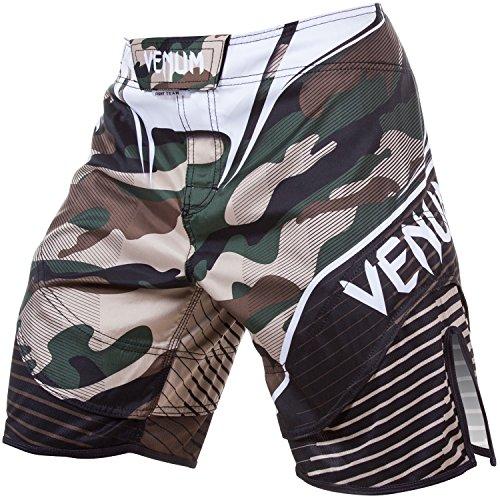 Venum Herren Training Shorts Camo Hero, Green/Brown, S