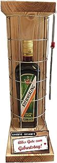 Alles Gute zum Geburtstag Eiserne Reserve mit einer Flasche Kümmerling Kräuterlikör 0,50L incl. Bügelsäge zum aufschneiden des Gitter -Die Geschenkidee