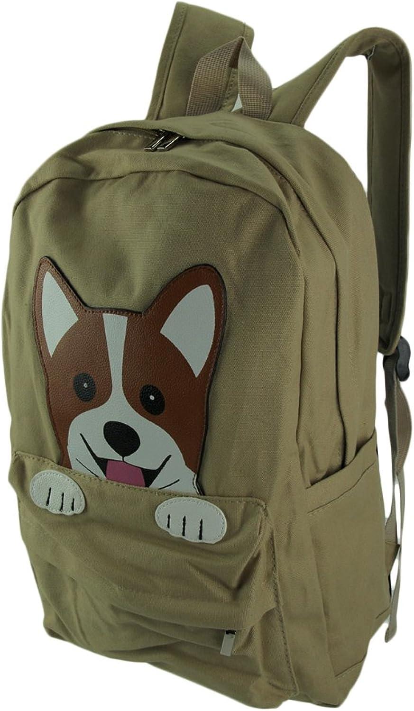 Sleepyvillve Critters Corgi Hund Baumwolle Leinwand Leinwand Leinwand Rucksack B07BYGWHX5 | Ideales Geschenk für alle Gelegenheiten  3de7a4