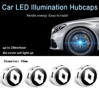 4 Piezas de luz de levitación magnética LED a Prueba de Agua Centro de Rueda Cubiertas