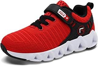 ❤️Rolayllove❤️ Boys Girls Sneaker Kids Breathable Knit Sneakers Lightweight Mesh Athletic Running Shoes