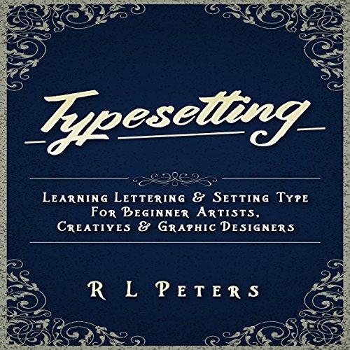 Typesetting audiobook cover art
