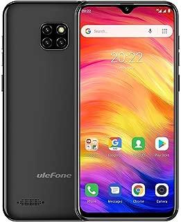 Ulefone Note 7 Unlocked Cell Phones, Unlocked Smartphone 3G Android 8.1 Unlocked Smartphone Dual Sim Face Unlock 6.1'' Waterdrop Screen 1GB+16GB 8MP Three Camera 3500 Mah Battery +Free Case (Black)