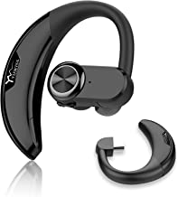 Yuwiss Bluetooth Headset with 2 Batteries 36Hrs Playtime V4.2 Earpiece for Cell Phone Handsfree Car Office Workout W/Mic Wireless Headphone Compatible with iPhone Samsung Android (Upgraded Version)