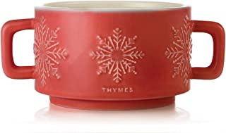 Thymes Hot Cocoa Collection Large Poured Candle, Dark Chocolate Mug