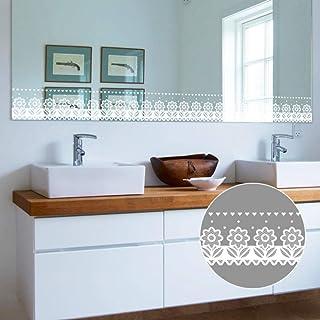 10x1000cm blanc fleur stickers muraux fenêtre en verre salle de bains cuisine armoire poêle decal décor à la maison auto-a...