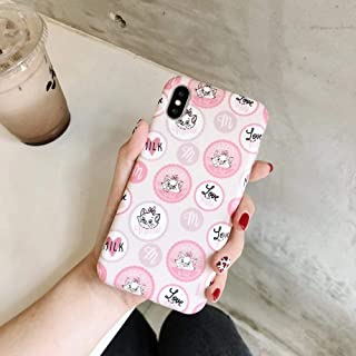 Cute Cat Pink Marie Soft Silicone Phone Case for iPhone 6 6s 6 s 7 8 Plus X XR XS MAX Cover Coque (5, for iPhone 7 or 8)