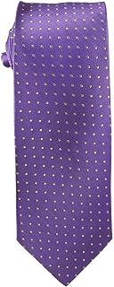 "Bright Wisteria Purple with white dots 48"" Tie for Kids age 8-14"