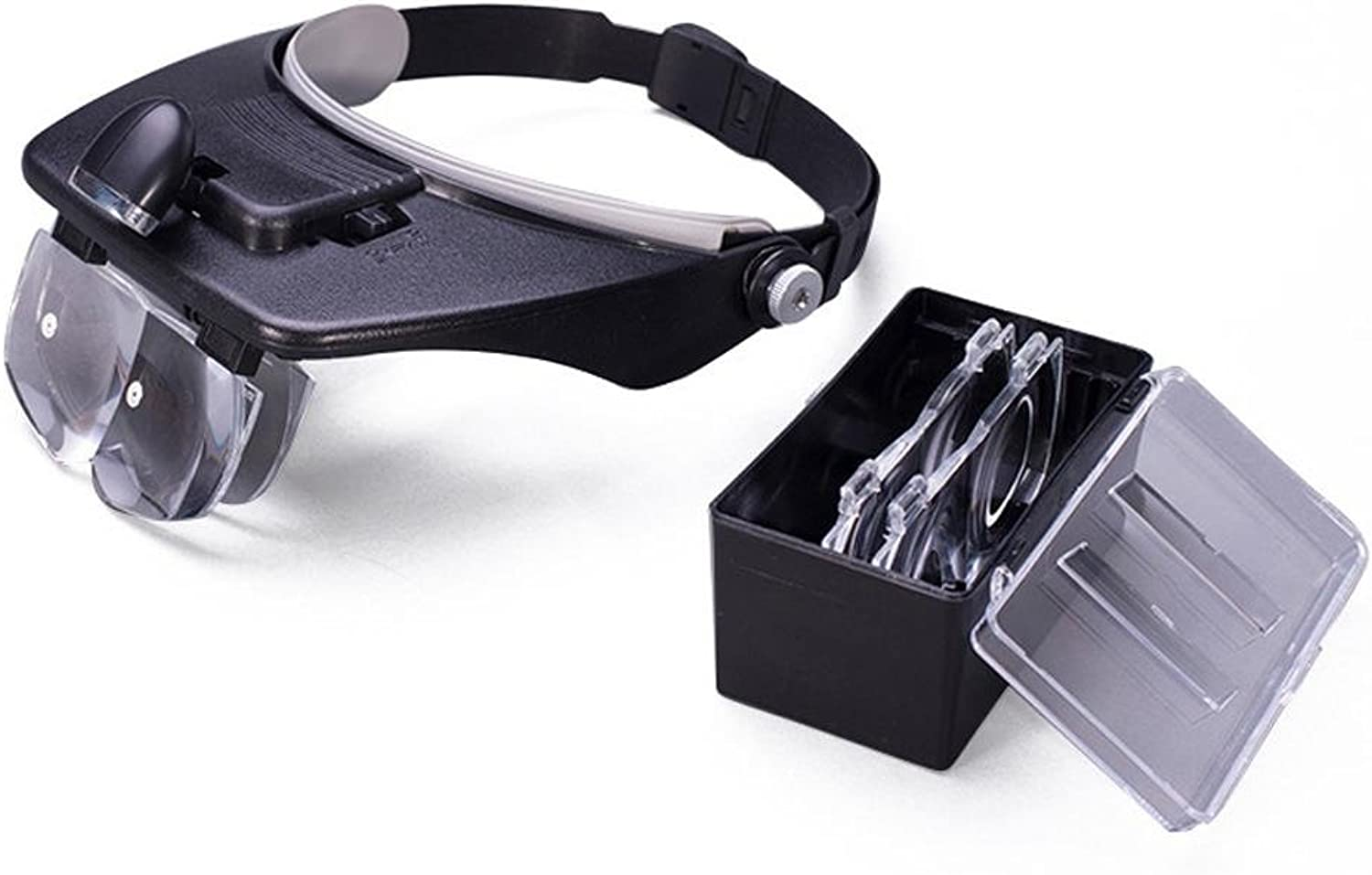 Reading Magnifiers Head-Mounted Reading Maintenance Versatile Multiple Lenses With LED Light Loupe