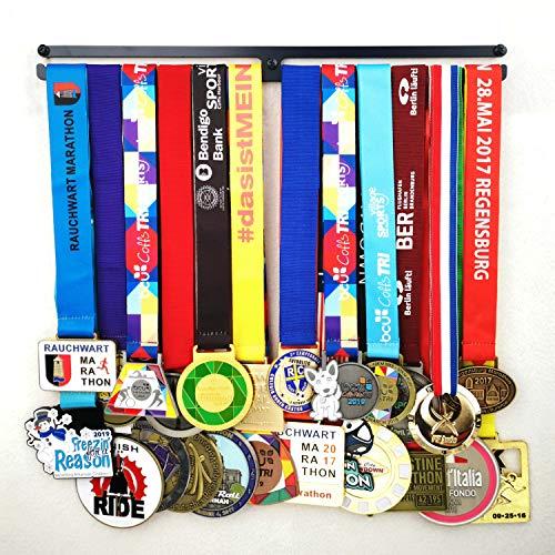 Medaillen-Aufhänger für Läufer, Gymnastik, Fußball, Trophäenregal, Medaillenhalter, Läufer, Medaillen-Aufhänger, Medaillen-Ständer, Trophäen-Halter in dunkelblauen Farben