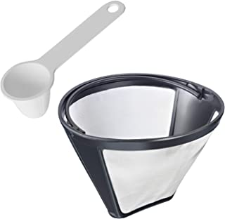 Westmark Koffieset 2-delig, permanent filter maat 4 en koffiedoseerlepel voor 6 g koffie, kunststof/roestvrij roestvrij st...