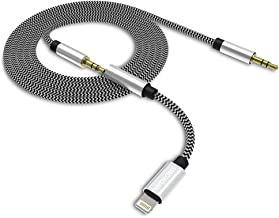 [Upgrade] 3-in-1 Aux Cord for iPhone Xs Max, RVOKOMS 3.5mm Aux Cable Compatible with iPhone 7/8/8 Plus/X/XS Max to Car Stereo/Speaker/Headphone Adapter, Support Newest iOS 12 Version and Above, White