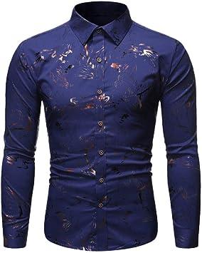 Wodechenshan Camisas Casual para Hombre,Los Hombres Camisas ...
