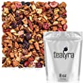 Tealyra - Tropical Harvest - Dragon Fruit - Sea Buckthorn - Goji - Pineapple - Cranberry - Fruity Herbal Loose Leaf Tea - No Caffeine - Hot or Iced - 224g (8-ounce) by Tealyra