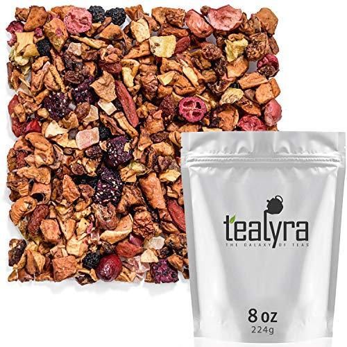 Tealyra - Tropical Harvest - Dragon Fruit - Sea Buckthorn - Goji - Pineapple - Cranberry - Fruity Herbal Loose Leaf Tea - No Caffeine - Hot or Iced - 224g (8-ounce)