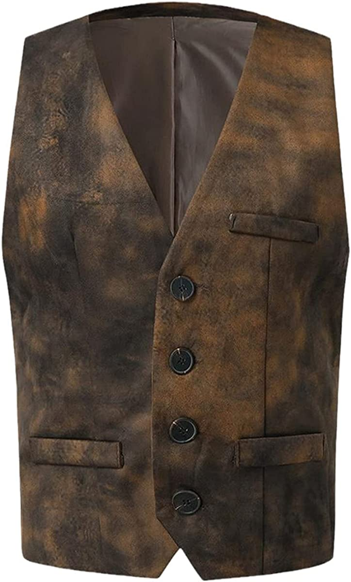 Handsome Men's Suit Jacket Vest Fashion Single-breasted Suit Vest Slim Business Cotton Jacket