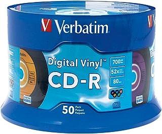 Verbatim CD-R 80min 52X with Digital Vinyl Surface - 50pk Spindle