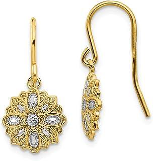 Mia Diamonds 14K White Gold Fancy Ball Post Earrings