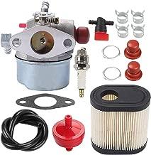 Milttor 640303 LV195EA Carburetor 36905 740083A Air Filter Fit 640271 640350 Tecumseh Carburetor LEV120 LV195XA LEV100 LEV105 Toro 20016 20017 20018 20019 Lawn Boy 10683 10684 10685 10686 Mower