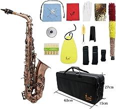 Ammoon Acabado Antiguo Bend Eb E-Flat Saxofón Alto Patrón