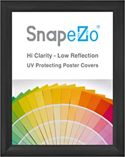 SnapeZo Poster Frame 36x48 Inches, Black 2.2 Inch Aluminum Profile, Front-Loading Snap Frame, Wall Mounting, Super-Wide Series
