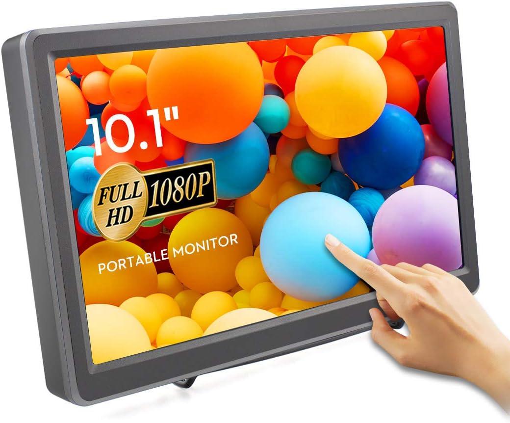 ELECROW 10.1 Inch Touchscreen Monitor 1920X1080p Raspberry Pi Screen IPS Monitor with HDMI VGA Display for Raspberry Pi Win PC