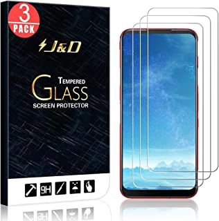 【J&D】3パックZTE Nubia Red Magic 5G/ZTE Nubia Red Magic 5Sスクリーン・プロテクター、Nubia Red Magic 5Gのための「強化ガラス」HDクリアの弾道のガラス・スクリーン・プロテクターー...