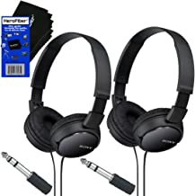 Sony MDRZX110 ZX Series Stereo Headphones (Black) with 3.5mm