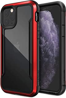 Defense Shield, iPhone 11 Pro Case - Military Grade Drop Tested, Anodized Aluminum, TPU, and Polycarbonate Protective Case for Apple 11 Pro, (Red)