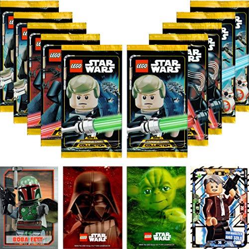 LEGO Star Wars Trading Card Collection Serie 1: 10 Booster + Bonus + carta LE (LE4 experimentado Han Solo)