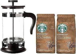 Cafetera francesa de acero inoxidable de 1 litro, con 2 tazas de ...