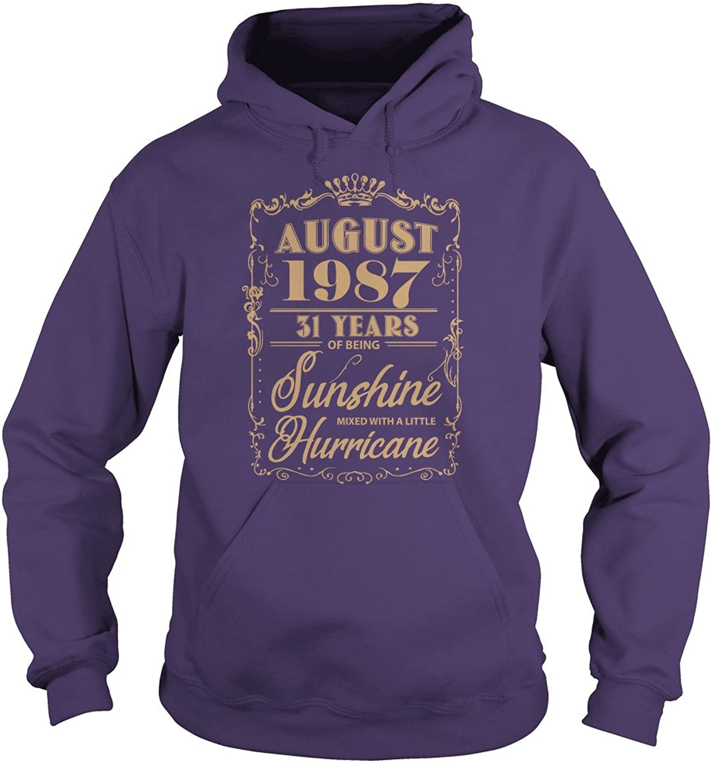 August 1987 31 Years of Being Sunshine Mixed with A Little Hurricane T-Shirt