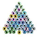 DECORA 20mm Assorted Design Glass Eyes for Handcraft, Decoration.48pcs