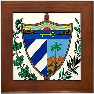 CafePress Cuba Coat of Arms Framed Tile, Decorative Tile Wall Hanging