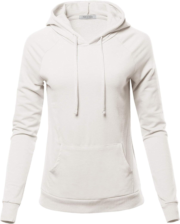 Women's Raglan Sleeve Pullover Fashionable French TOP Hoodie Kangaro trend rank Terry W