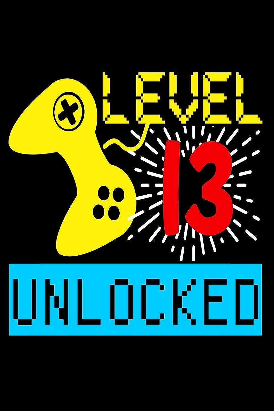 時計ギネス編集するLevel 13 Unlocked: Lined Journal Notebook for Gamers, Video Game Lovers, Players, 13th Birthday Favor