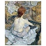 Legendarte - Kunstdruck auf Leinwand - Frau bei ihrer