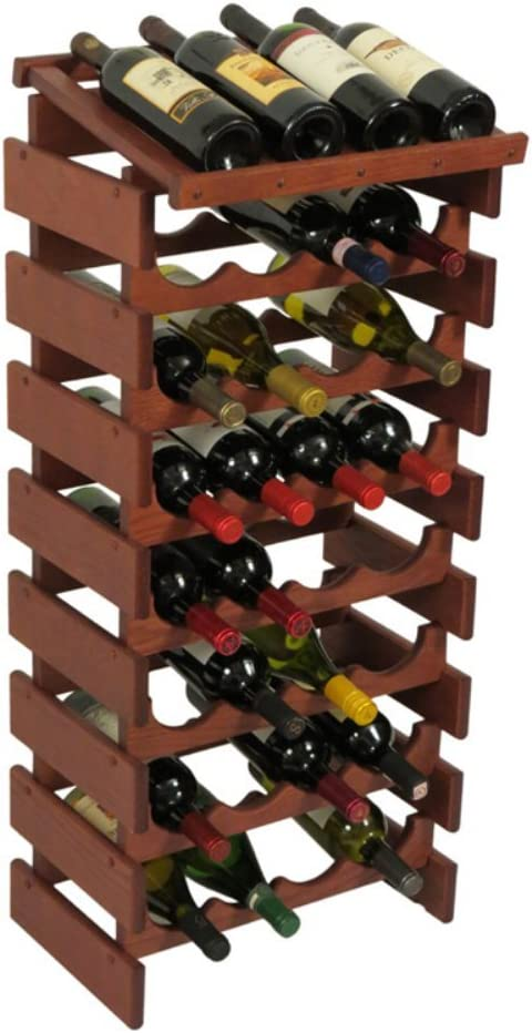 Wooden Mallet 32 trend rank Bottle Dakota Mahogany Display Top Wine Rack National uniform free shipping