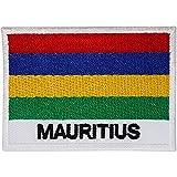 Aufnäher mit Mauritius-Flagge, bestickt, zum Aufbügeln oder Aufnähen, für Kleidung, Jeans, Hüte, T-Shirts, Taschen