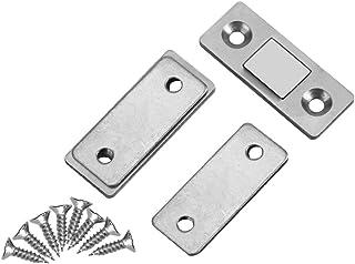 2Pcs Arrêt de Porte Serre-porte Capture ultra Magnétique avec des vis serrure verrouillage pour Cabinet armoire placard me...